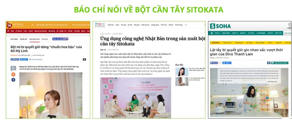 Báo chí trong nước đưa tin về sản phẩm