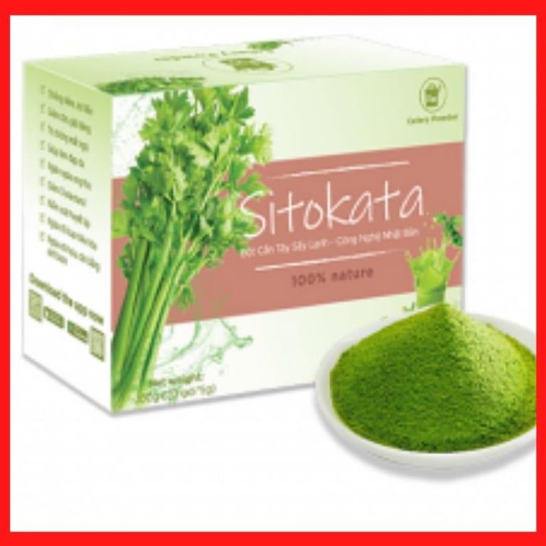 So sánh bột cần tây thông thường và bột cần tây Sitokata