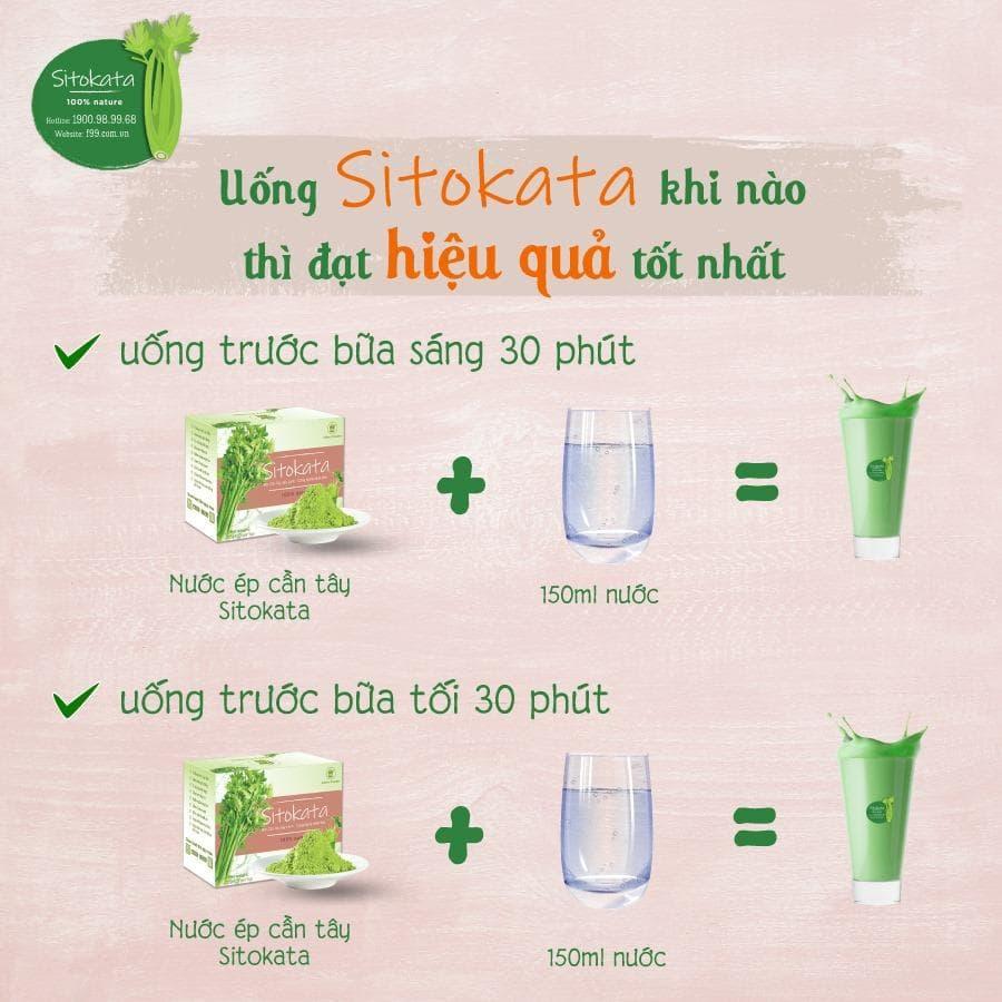 cách pha bột cần tây sitokata