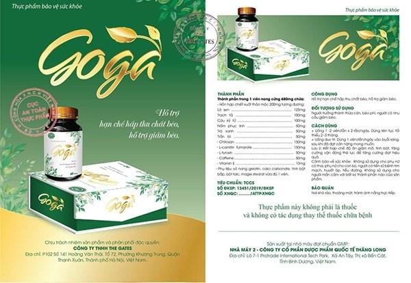 Thảo dược giảm cân GOGA sản xuất ở đâu ?