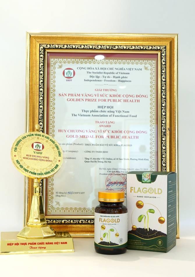 Giải thưởng mầm đậu nành Nano Flagold