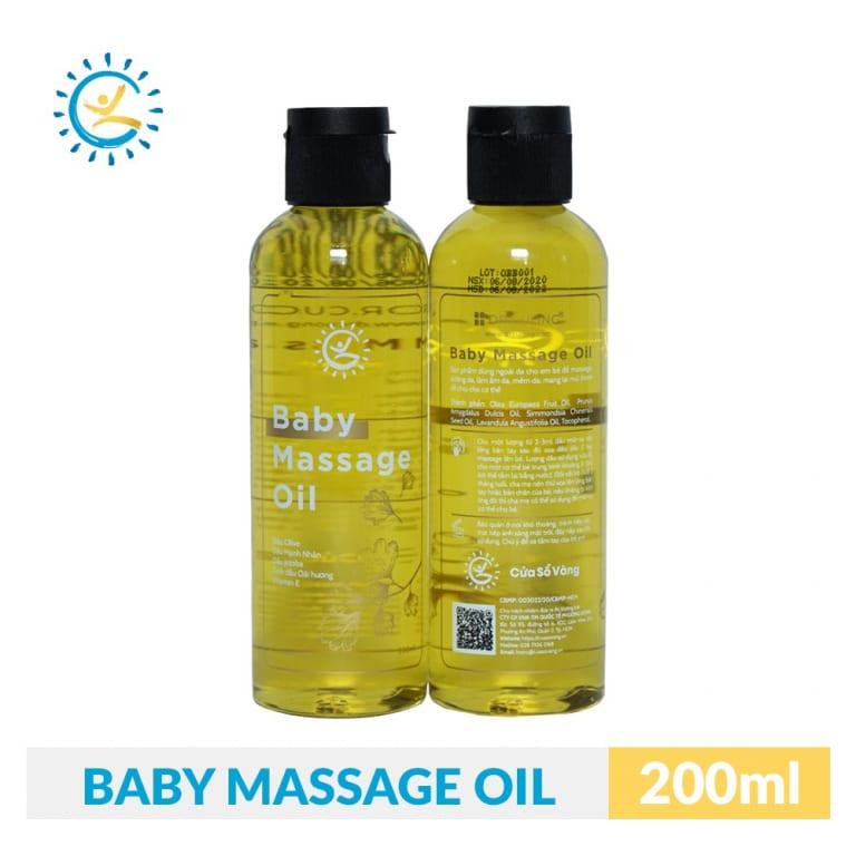 Dầu Massage Baby Cửa Sổ Vàng