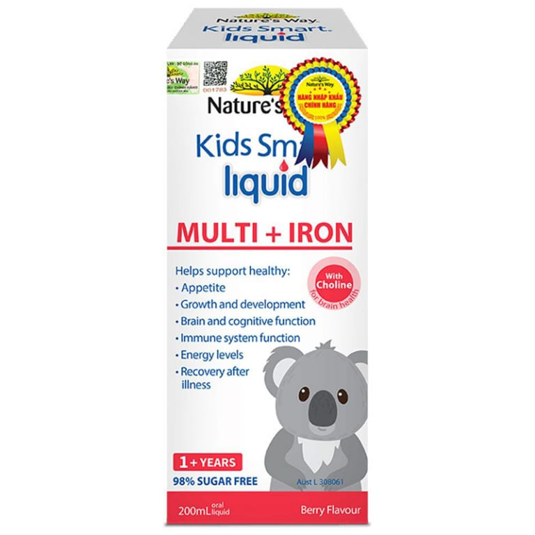 Nature's Way Siro bổ sung sắt và vitamin Kids Smart Multi + Iron Liquid 200ml