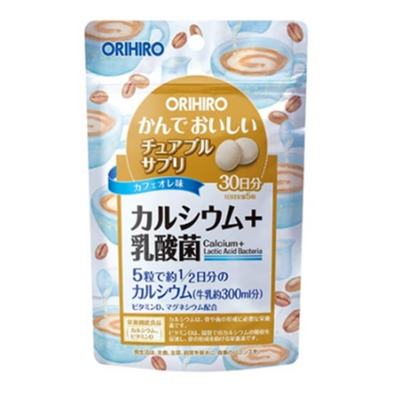 Orihiro Viên uống bổ sung Canxi và Lợi khuẩn dạng túi 150 viên