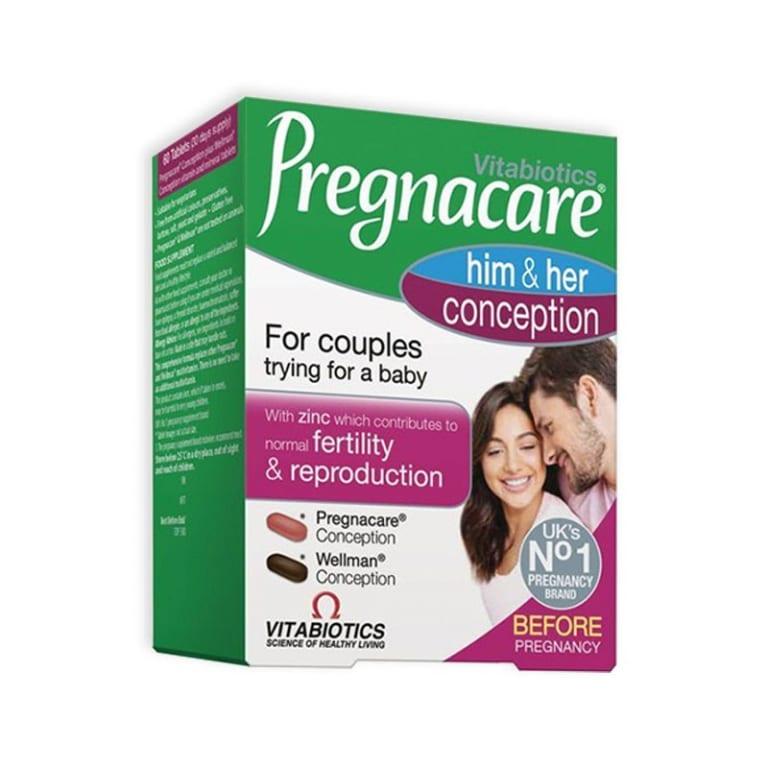 Vitabiotics Thực phẩm chức năng tăng khả năng thụ thai Him & Her Conception 60 viên