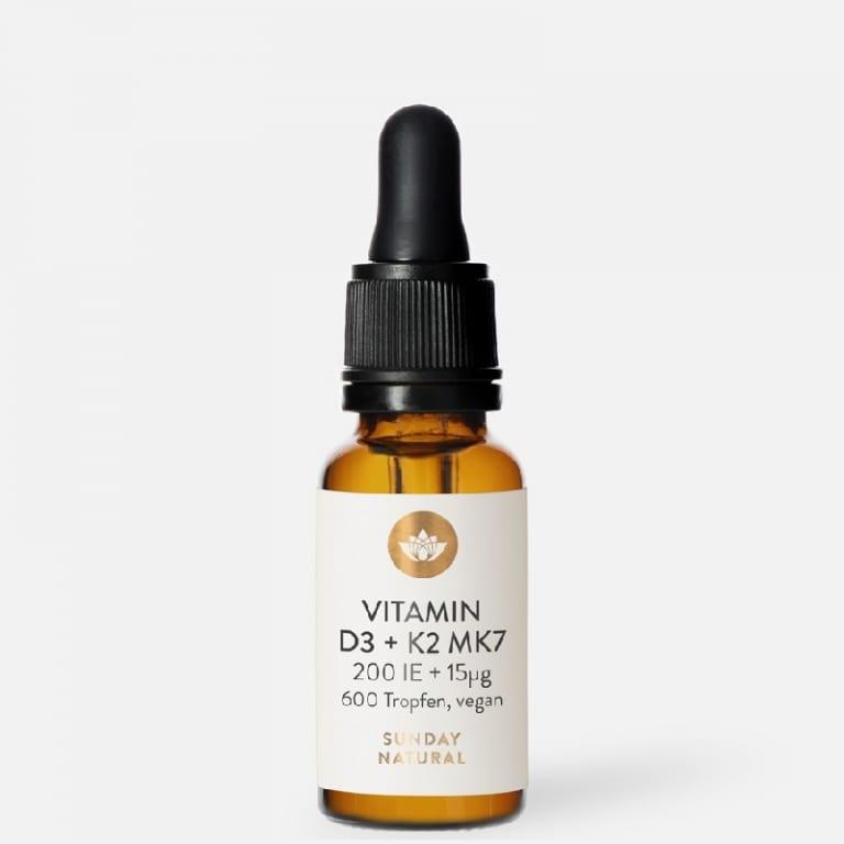 Sunday Natural Vitamin D3 K2 MK7 tăng chiều cao cho bé 200IE