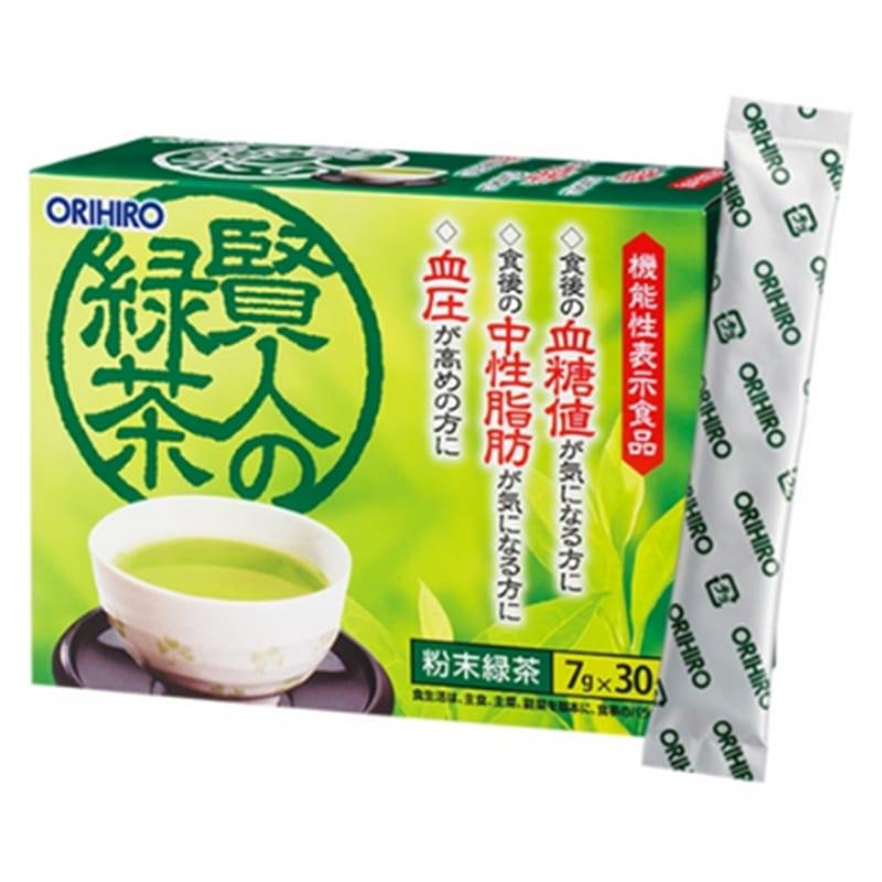Orihiro Trà xanh giảm mỡ máu và đường trong máu Sage 30 gói