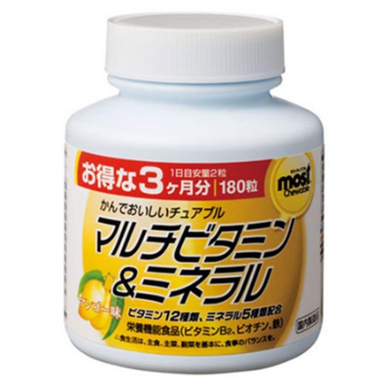 Viên nhai bổ sung Vitamin và khoáng chất Orihiro Most Chewable (180 viên)