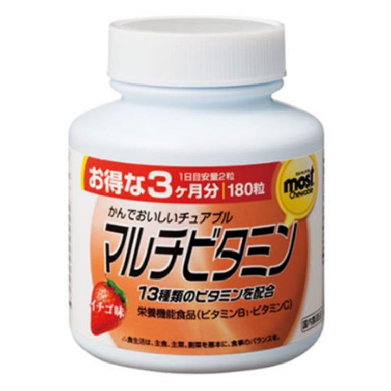 Orihiro Viên nhai vitamin tổng hợp vị dâu 180 viên