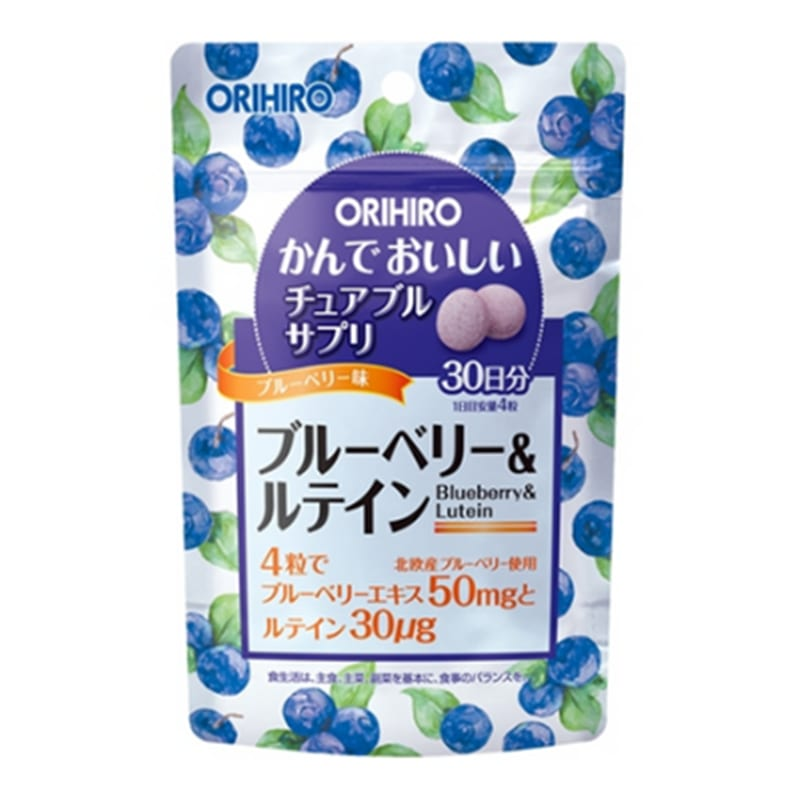 Orihiro Viên uống bổ sung Blueberry và Lutein dạng túi 120 viên