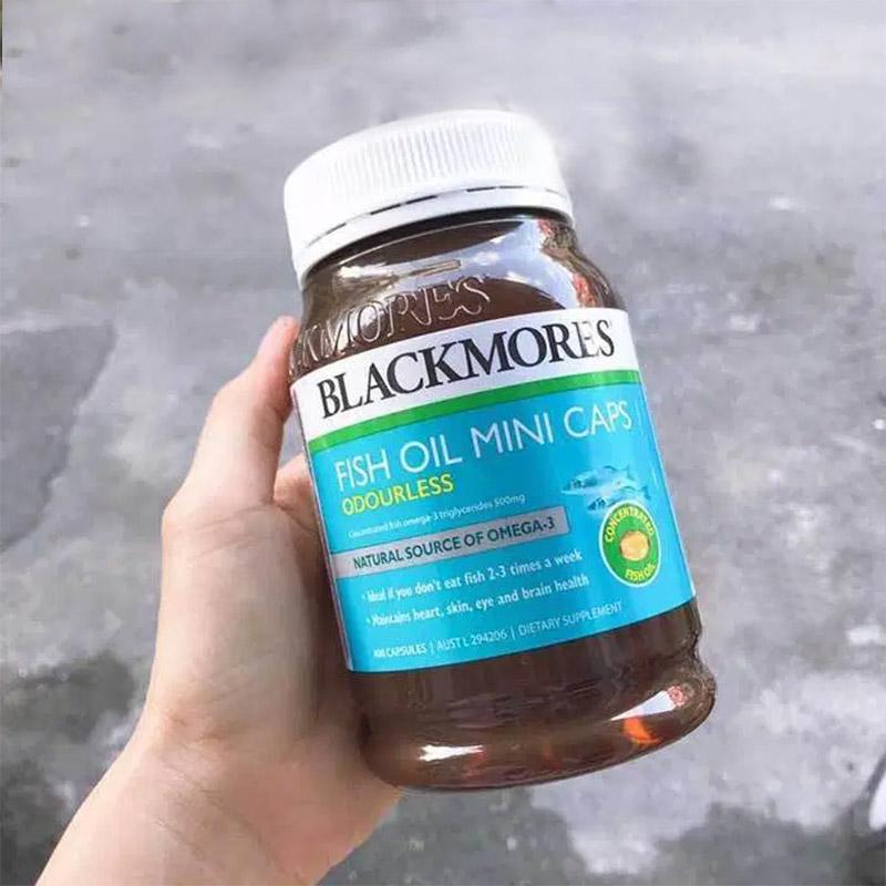 Blackmores Thực phẩm chức năng dầu cá không mùi Odourless Fish Oil Mini Caps 400 viên