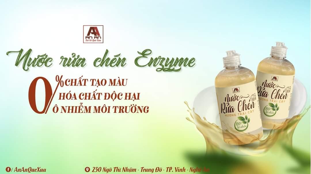 Nước rửa chén hữu cơ hương trái cây An An - rửa sạch chén bát - an toàn và thân thiện môi trường